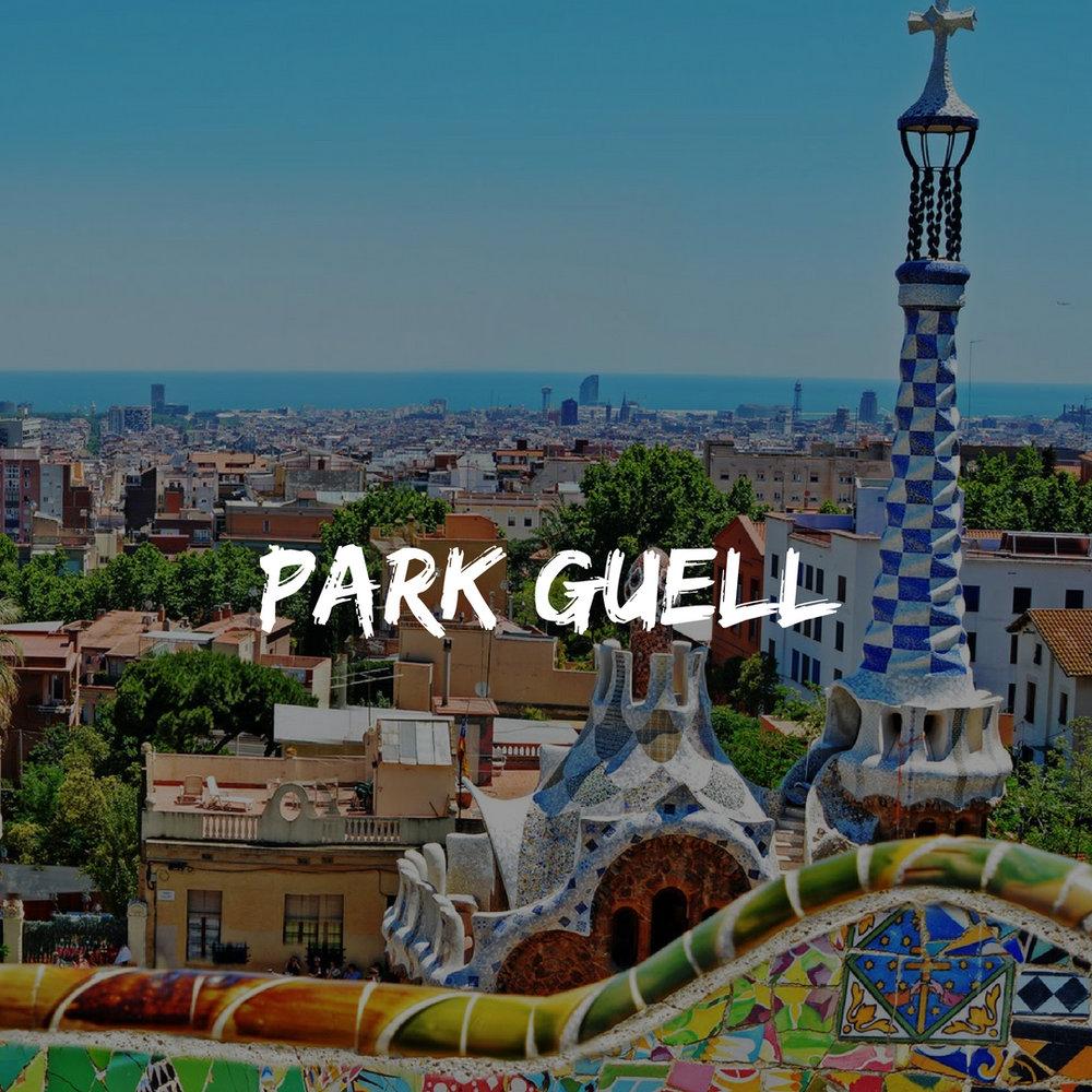 Park Guell Views in Spain Trip