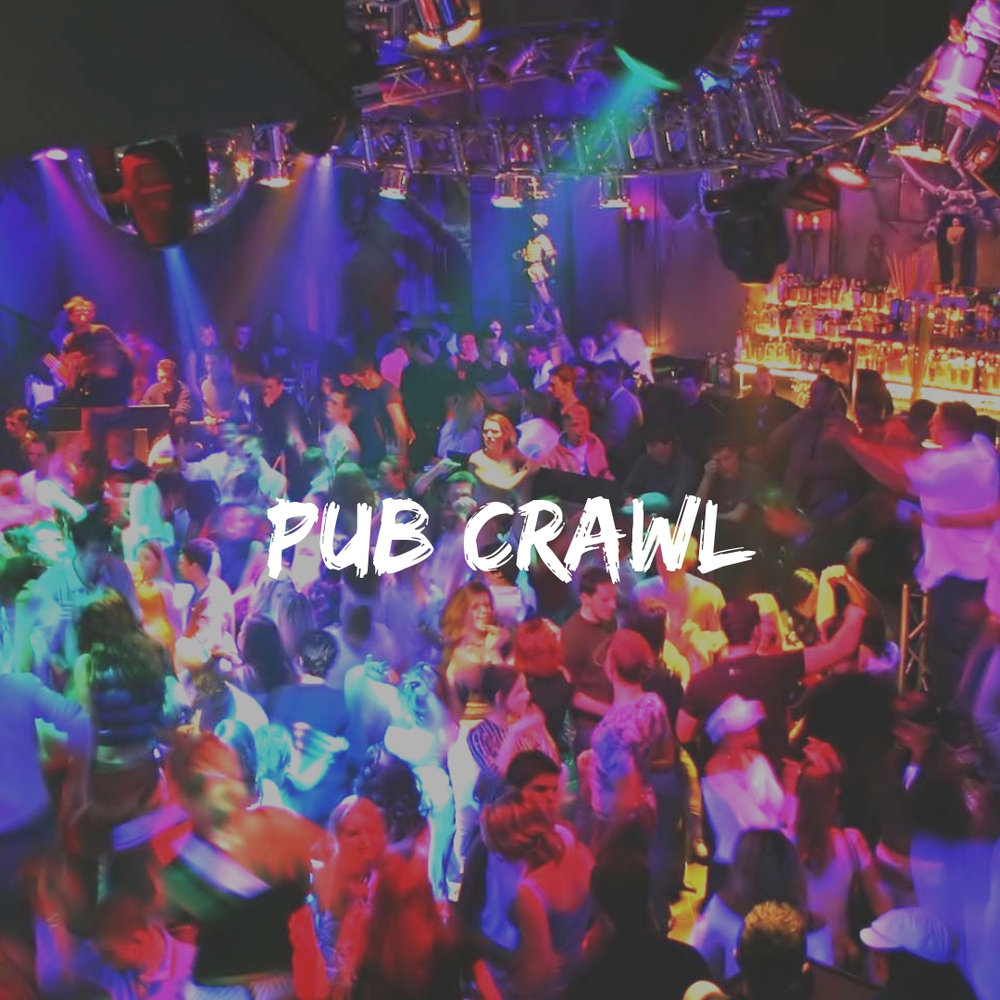 Pub Crawl and other fun activities on a backpacking trip for 18 to 32 year olds