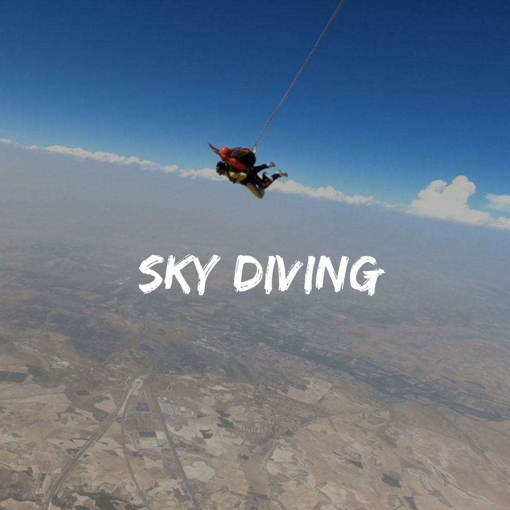 Adventure activities such as Skydiving from 13000 feet on Eurotrip