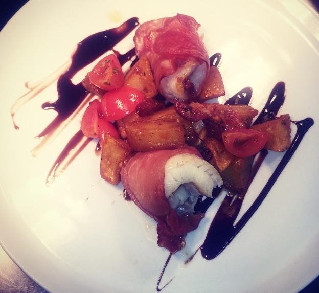 Eglefino con prosciutto e patate piccante
