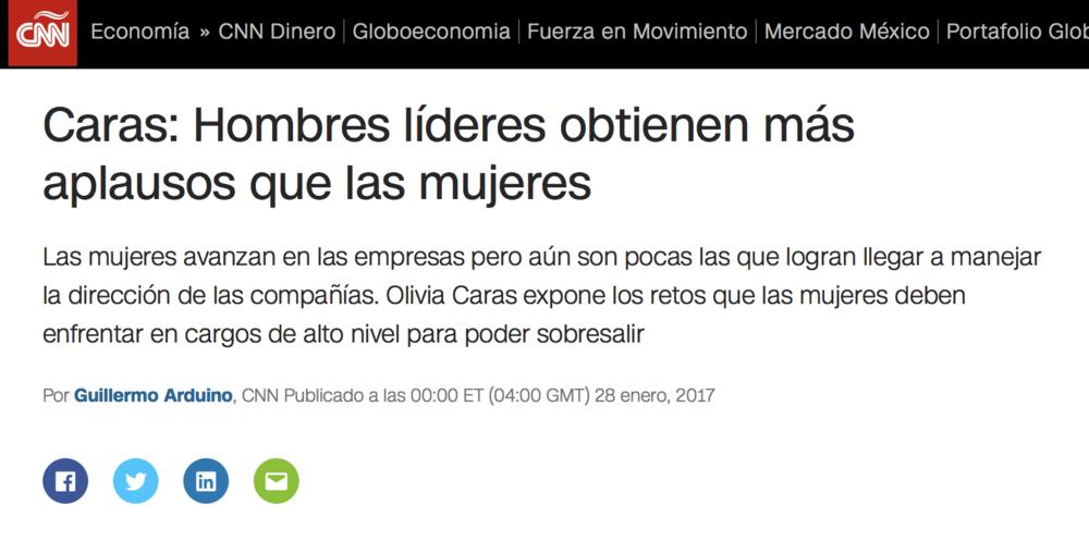 Entrevista para  CNN Dinero . Transmitida en vivo. En español.