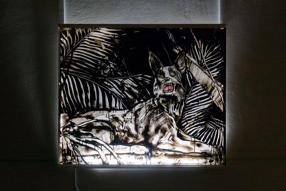 Borabo's dog state  100 x 120 cm