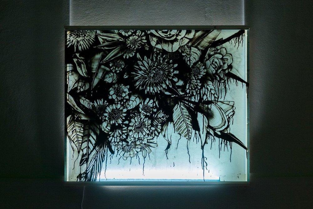 Flowers from Antwerpen  100 x 120 cm
