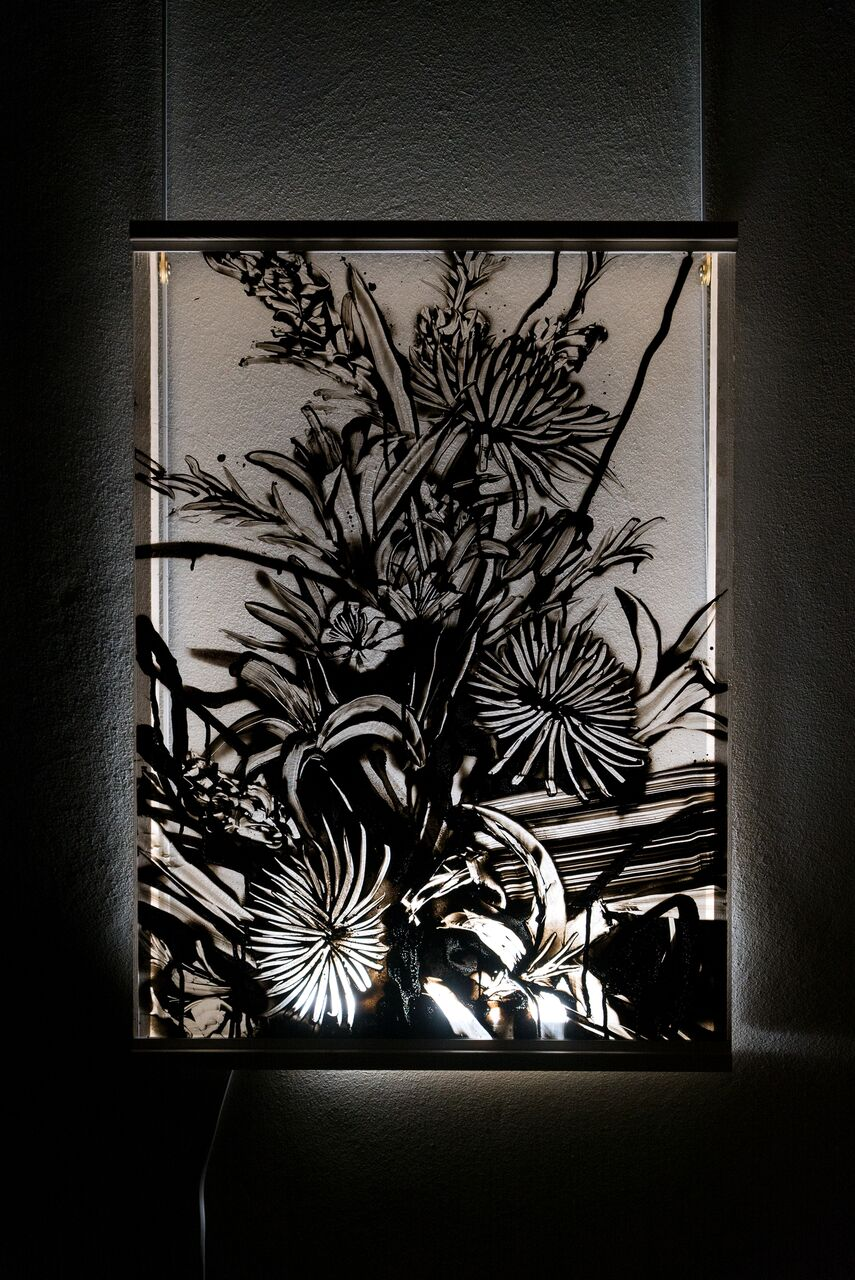 Flowers from Japan  56 x 76 cm