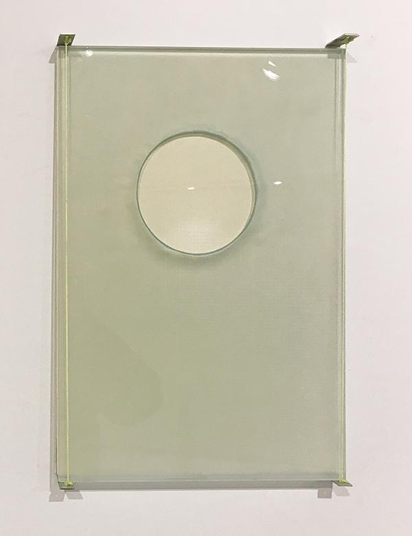 Vitrin #1 (singular circle) glasswork 2018