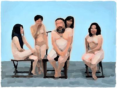 Ai Weiwei and four women N°2