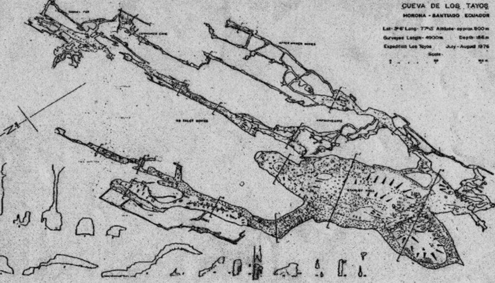 TAYOS CAVE MAP 1976