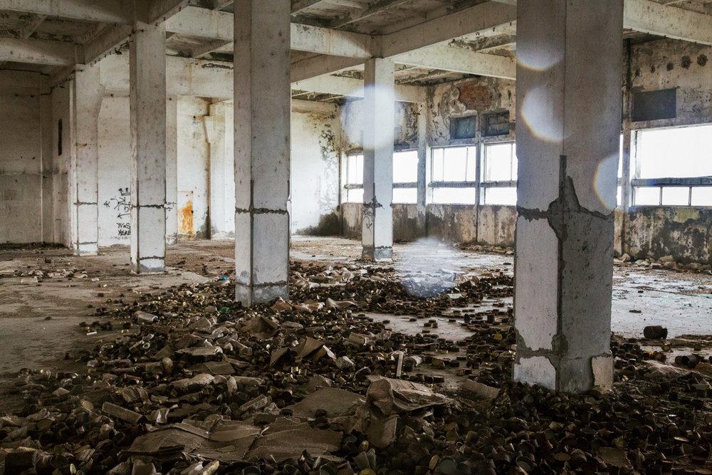 Sulina, Romania,November 2017. An old factory.