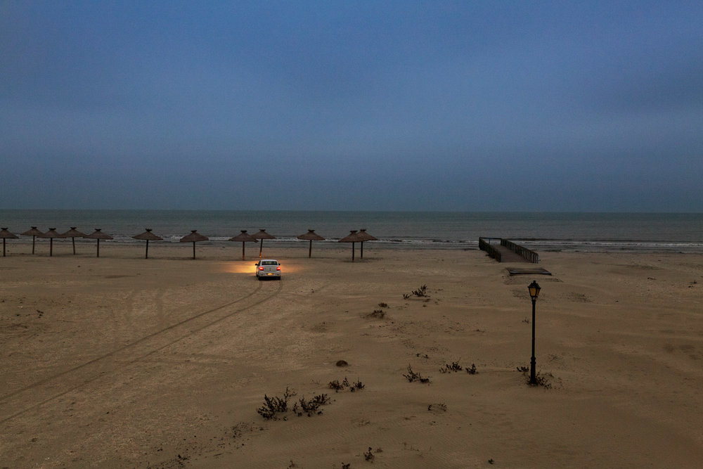 Sulina, Romania,November 2017. The beach of Sulina, facing the black sea.