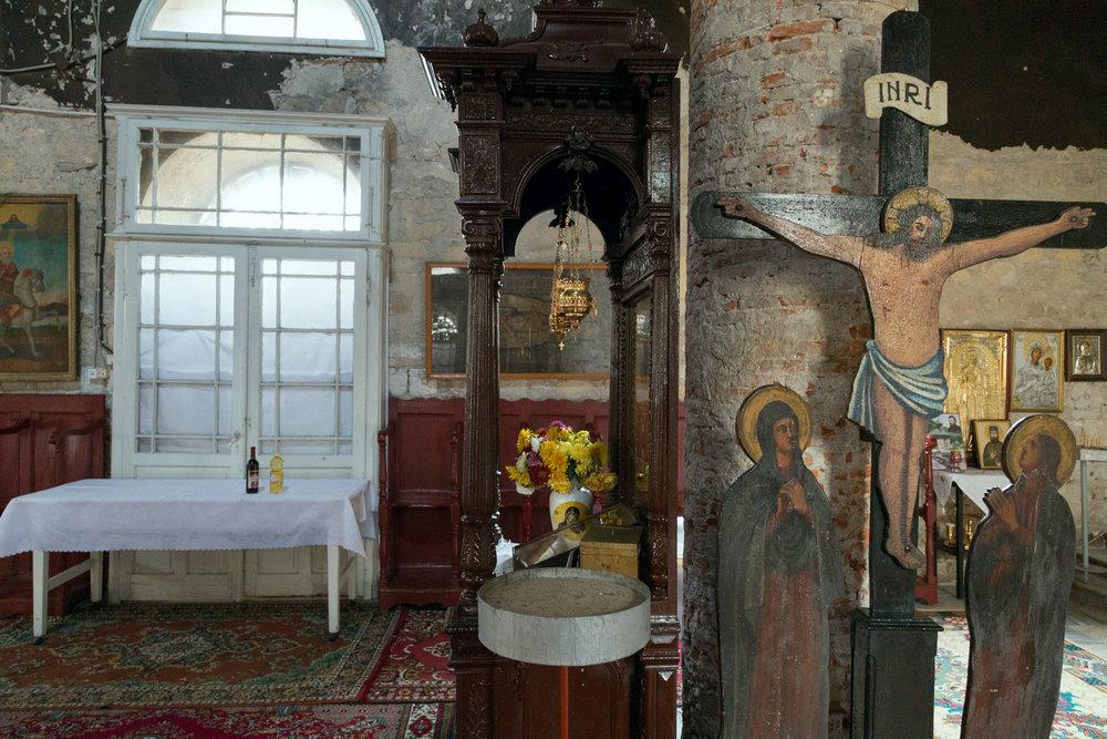 Sulina, Romania,November 2017. The orthodox church.