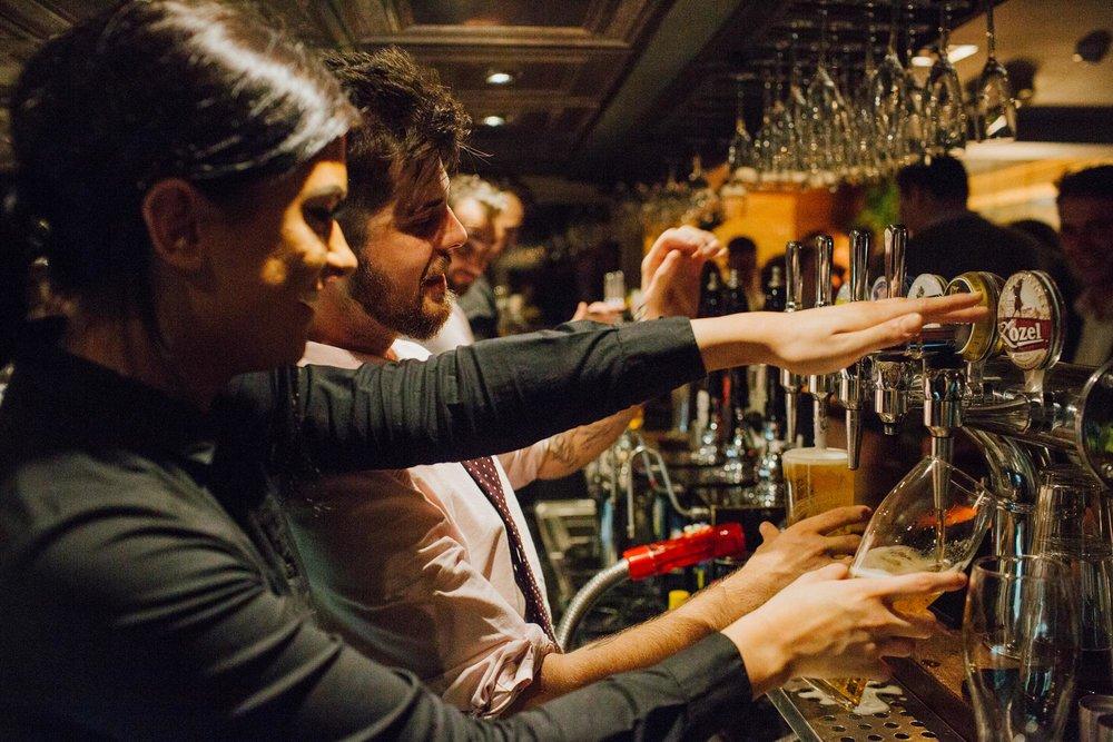 Bartender at The Globe pub and restaurant in Warwick.jpg