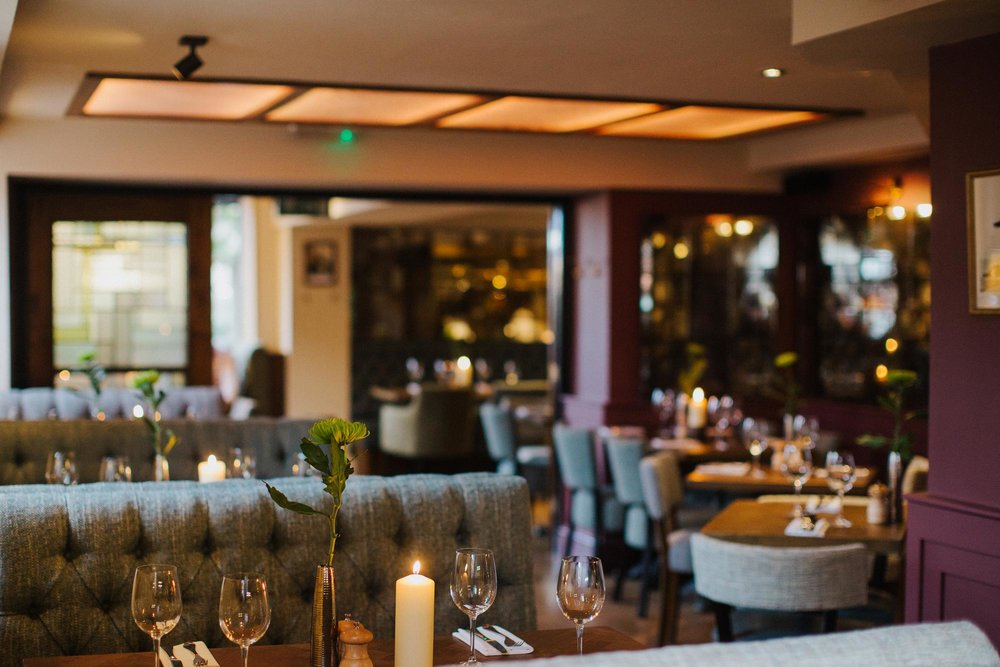 Candlelit restaurant at The Globe in Warwick.jpg