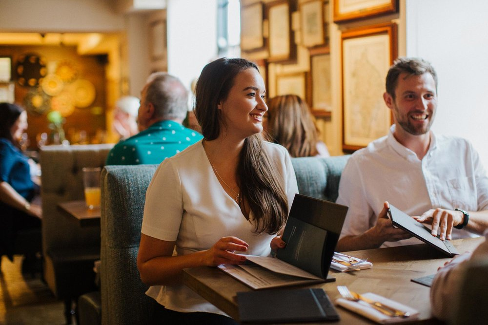 Customers at The Globe pub and restaurant in Warwick.jpg