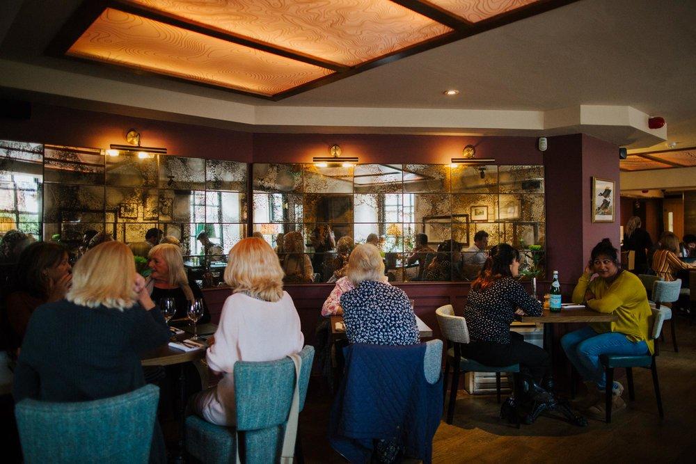 Customers in the restaurant at The Globe pub in Warwick.jpg