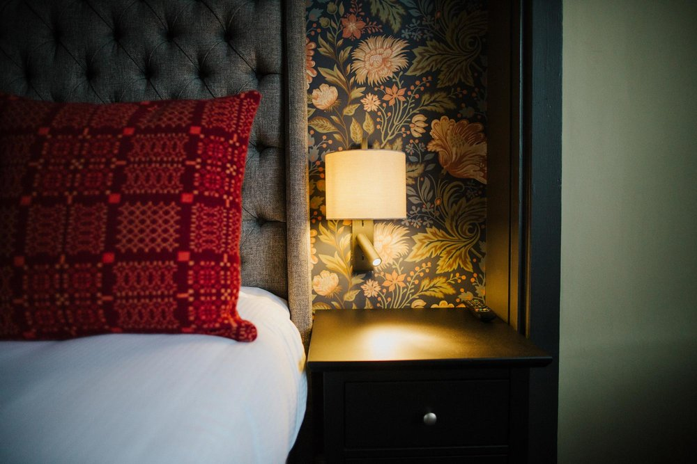 Boutique hotel room at The Globe pub and restaurant Warwick.jpg