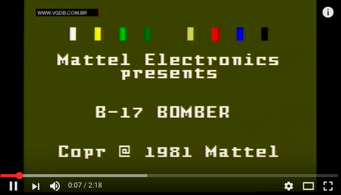 B-17 Bomber from Mattel