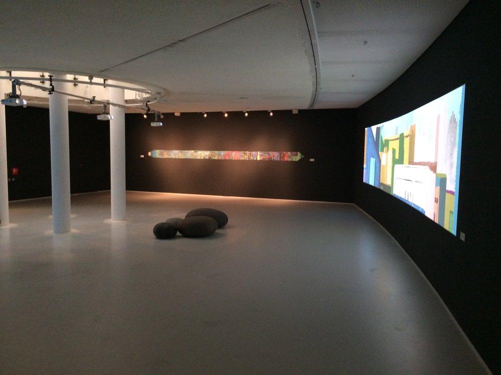 Museum Hilversum speciaal kunst project video-projectie