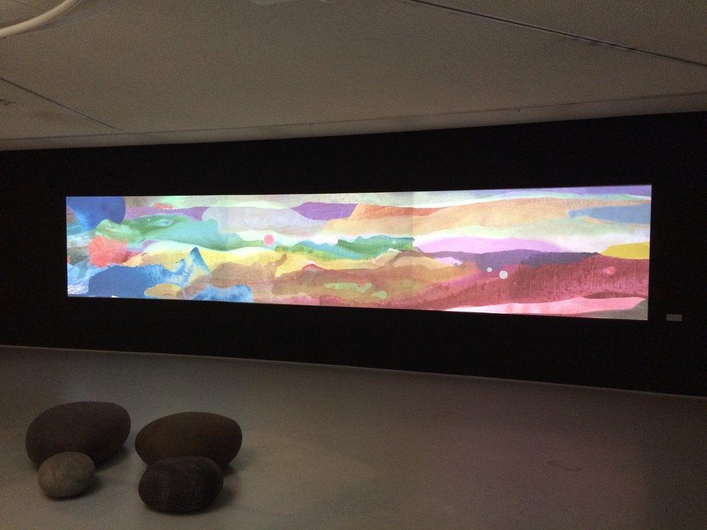 Speciaal kunst video-projectie te Hilversum Museum