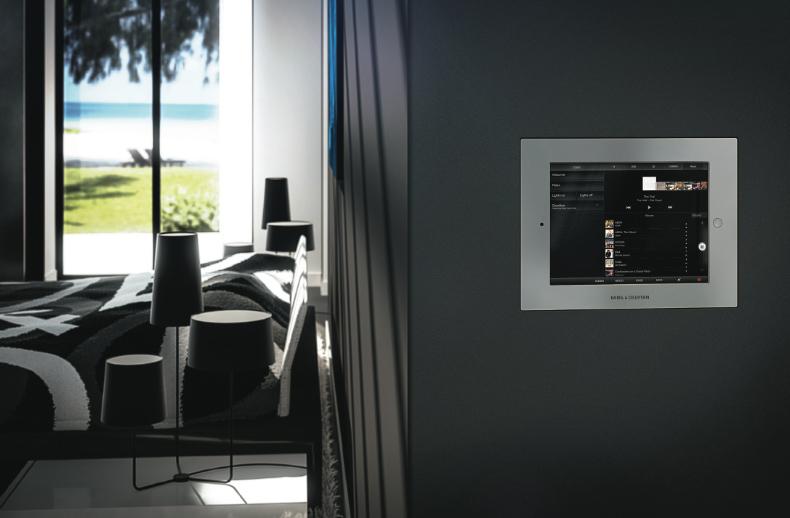 Inbouw frame van Bang en Olufsen voor iPad Air. Met visualisatie BeoLink app