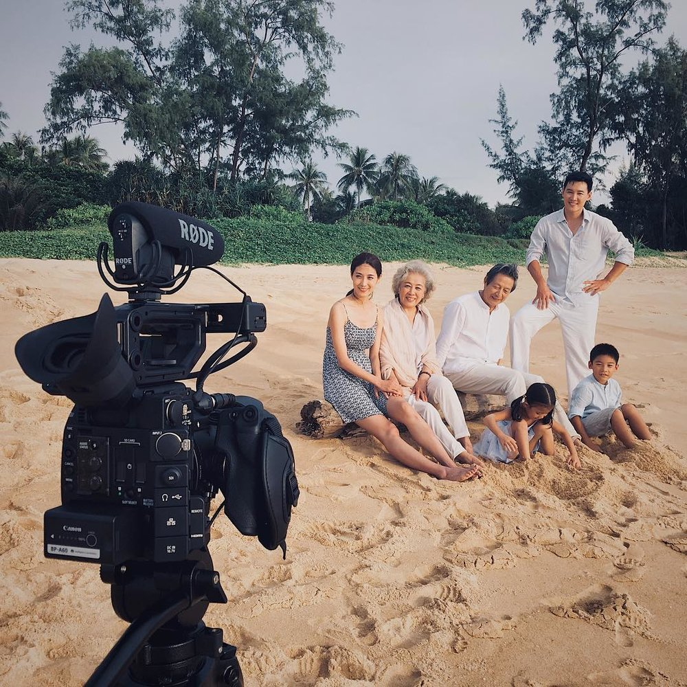 Actors on a location shoot for an international China based corporation
