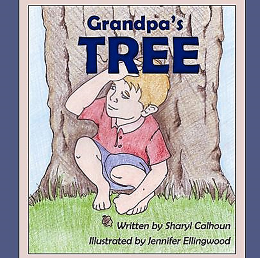 """My grandpa helped me climb up in a tree, that he'd played in when he was a kid. It reached out and hugged me   with humongous strong arms... and feeling quite safe there, I hid .""    -- Grandpa's Tree    by Sharyl Calhoun    This book also comes with worksheets for educators and home educators to be used as a small unit study.  Check it out at  www.grandpastree.com"
