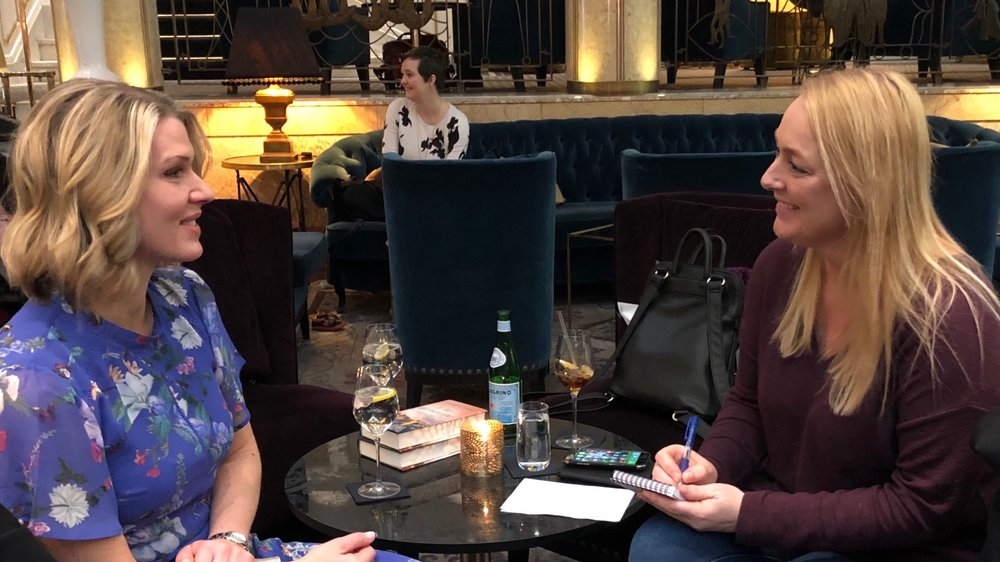 Being interviewed at the Grand Hotel, Oslo