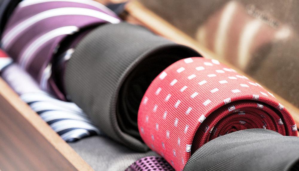 Auswahl an Krawatten