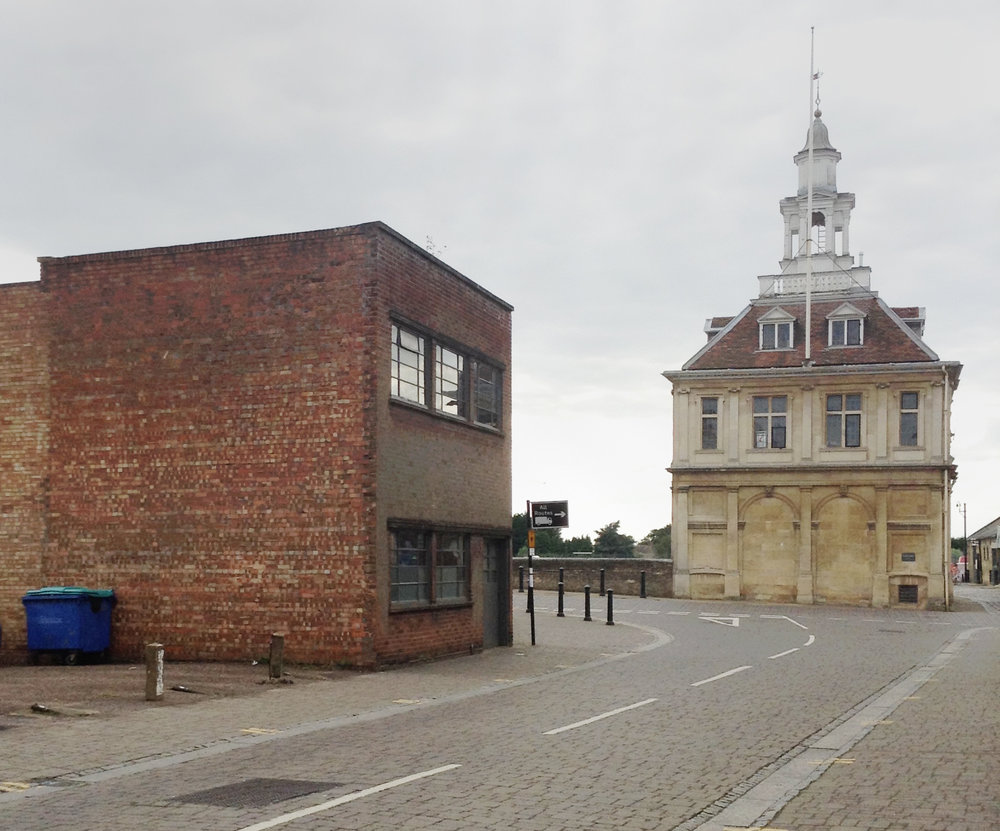 The original 'Winlove Building' looking West towards the Custom House. It will gain a new roof, which Historic England insisted must have a pitch to bring it into line with the surrounding architecture. The space to the East is to be filled with a new building.