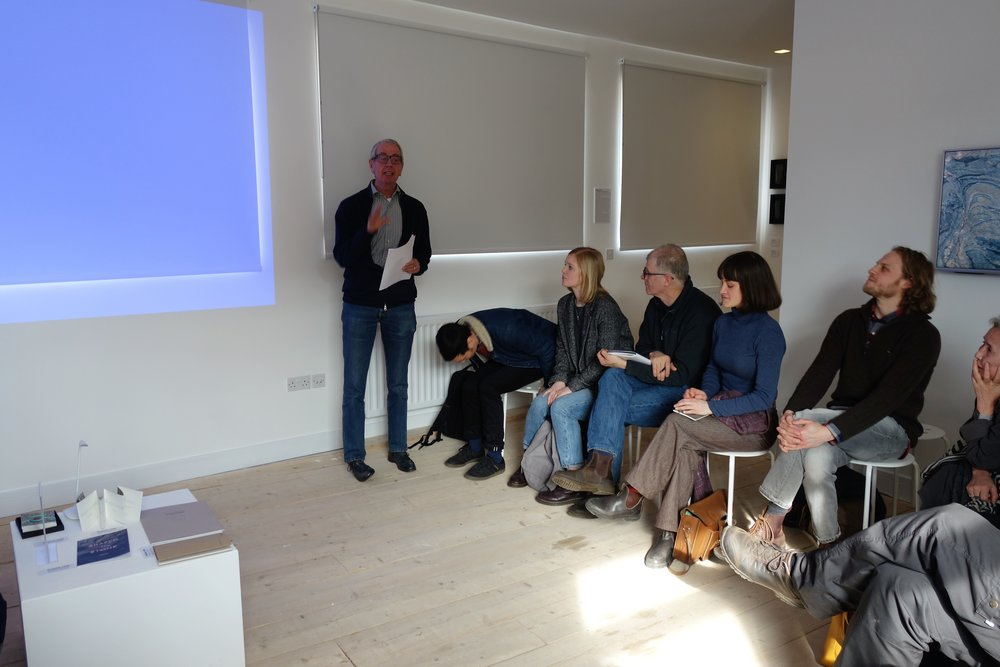Co Seegers talking about herman de vries. He spends a few weeks every year helping the artist to organise his archive and website and has spent many hours in discussion with him, so we benefited greatly from his experience, knowledge and thoughtfulness. herman is lucky to have him!