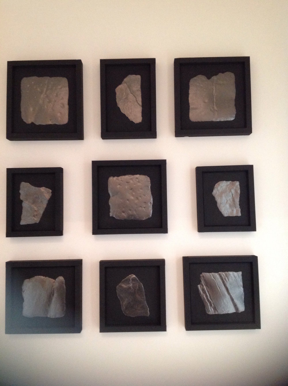 Tom Baskeyfield's series of graphite images of stone setts of Macclesfield