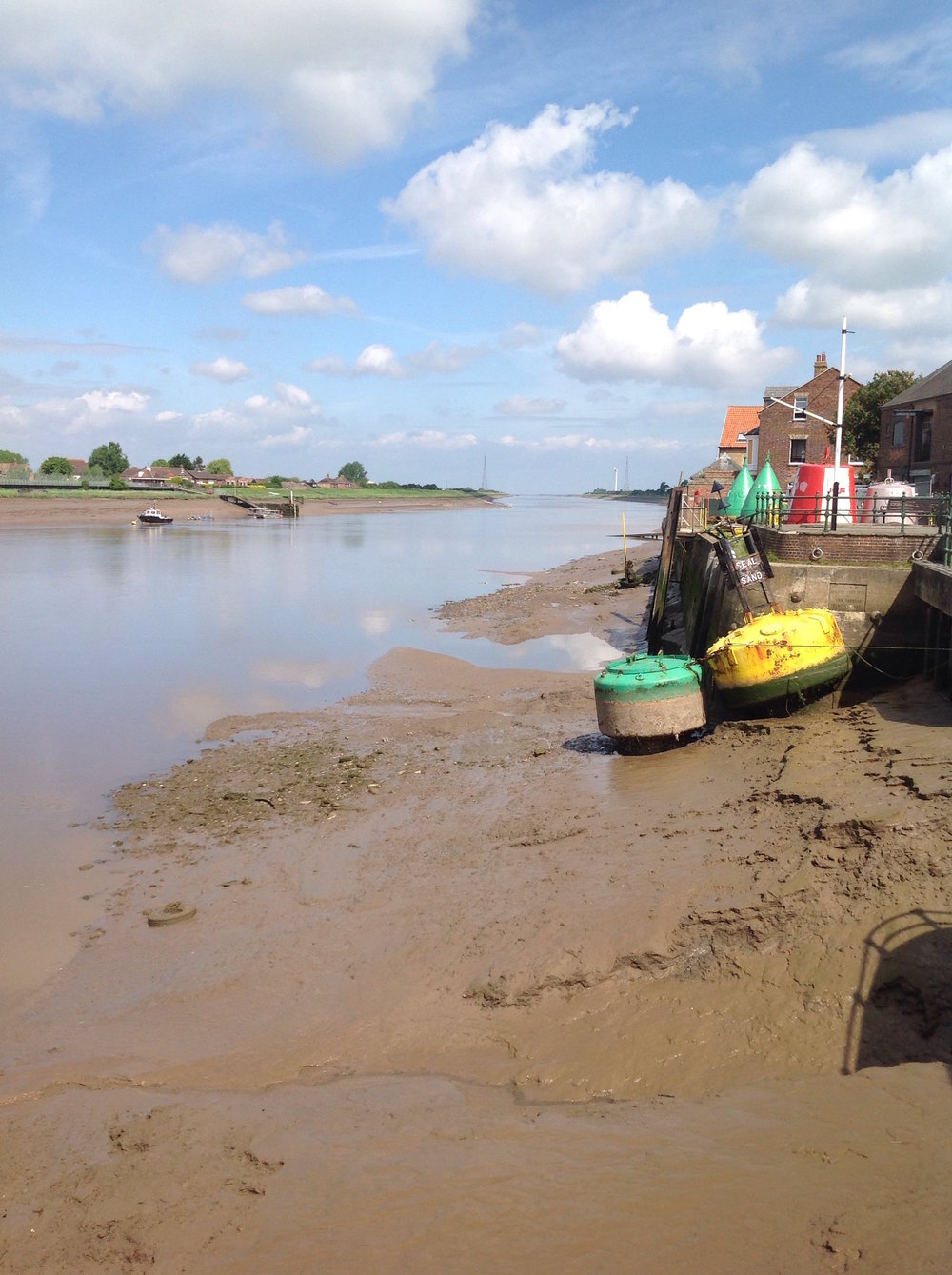 The Great Ouse river at low tide, looking towards the Wash. This view can be seen only moments from the town centre
