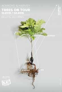 Ackroyd and Harvey poster for Beuys acorns on tour in 2015-16
