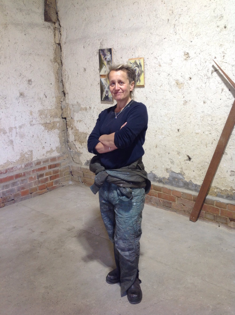 Nessie Stonebridge in her Norfolk studio