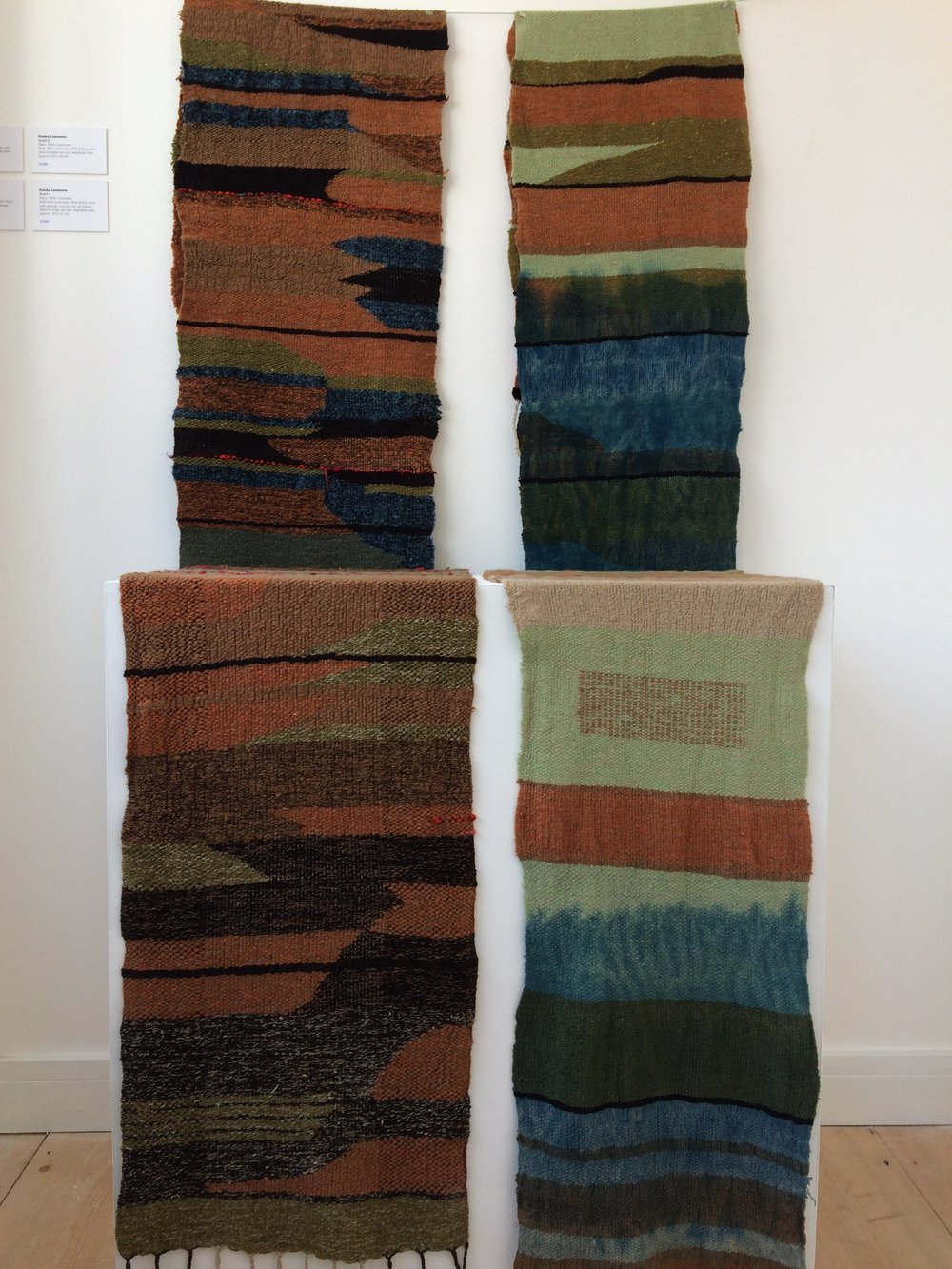 Scarves by Femke Lemmens on show Upstairs at GroundWork