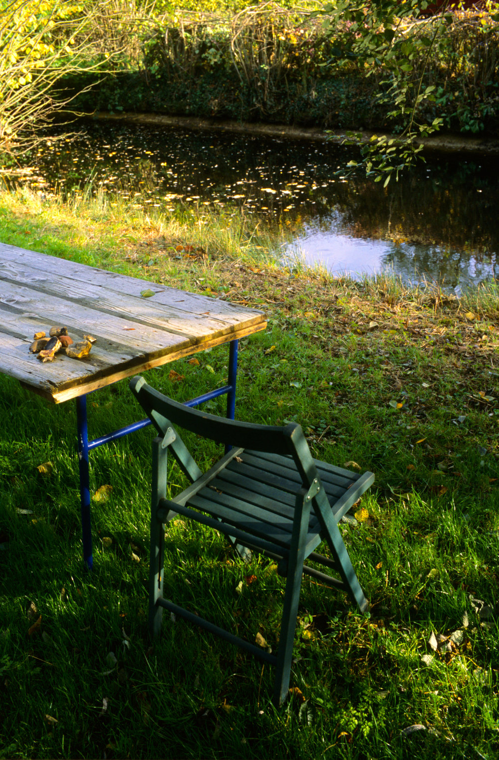 Table and Chair, Walnut Tree Farm, Suffolk, 2006; 32 x 22 inches, edition of 5