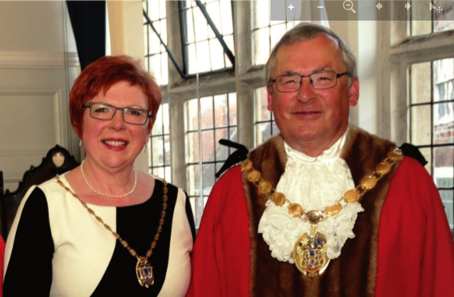 Exhibition opened by the Mayor Councillor Nick Daubney and Cheryl Daubney