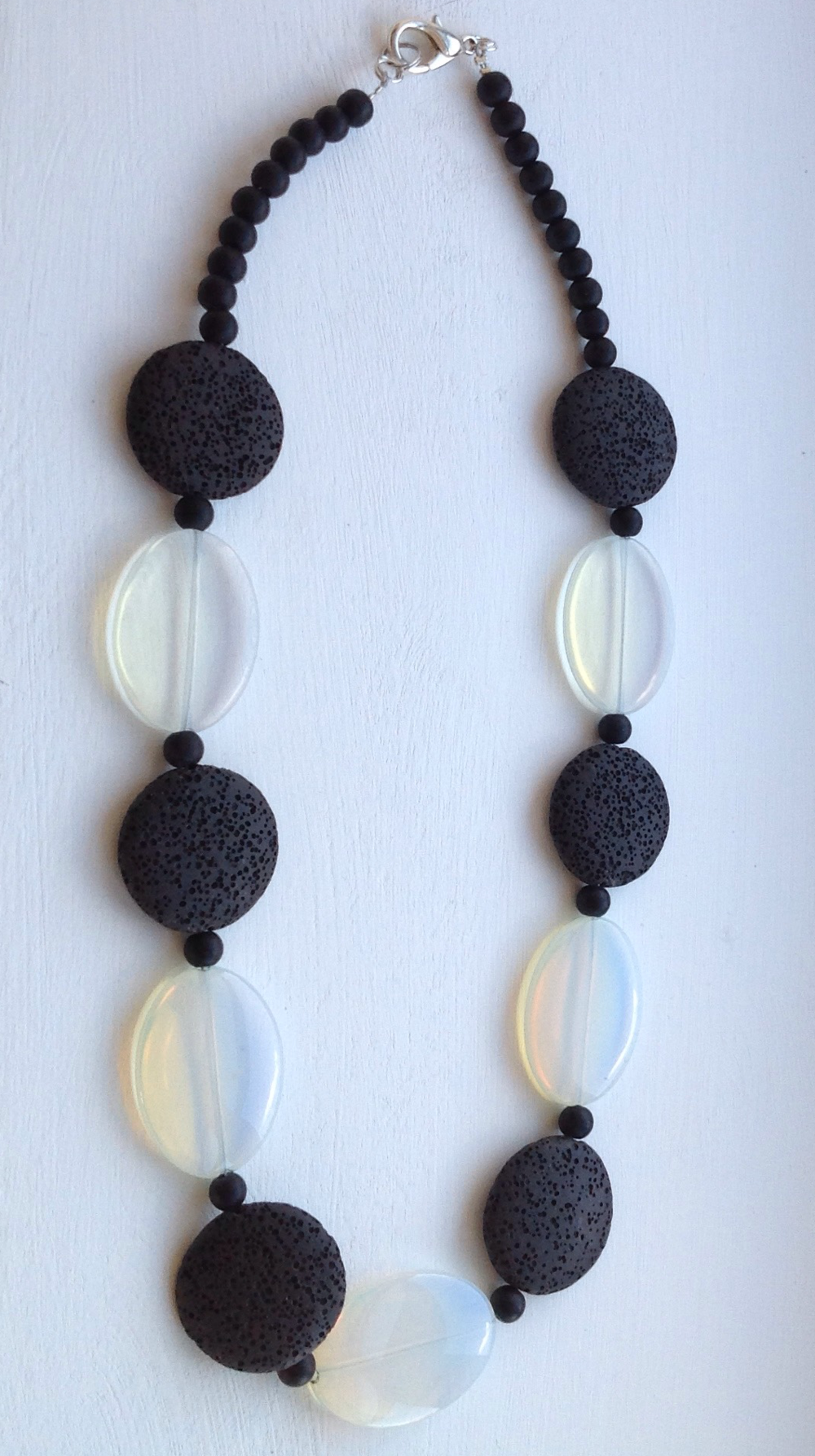 Linda McFarlane, Pyrite and lava necklace