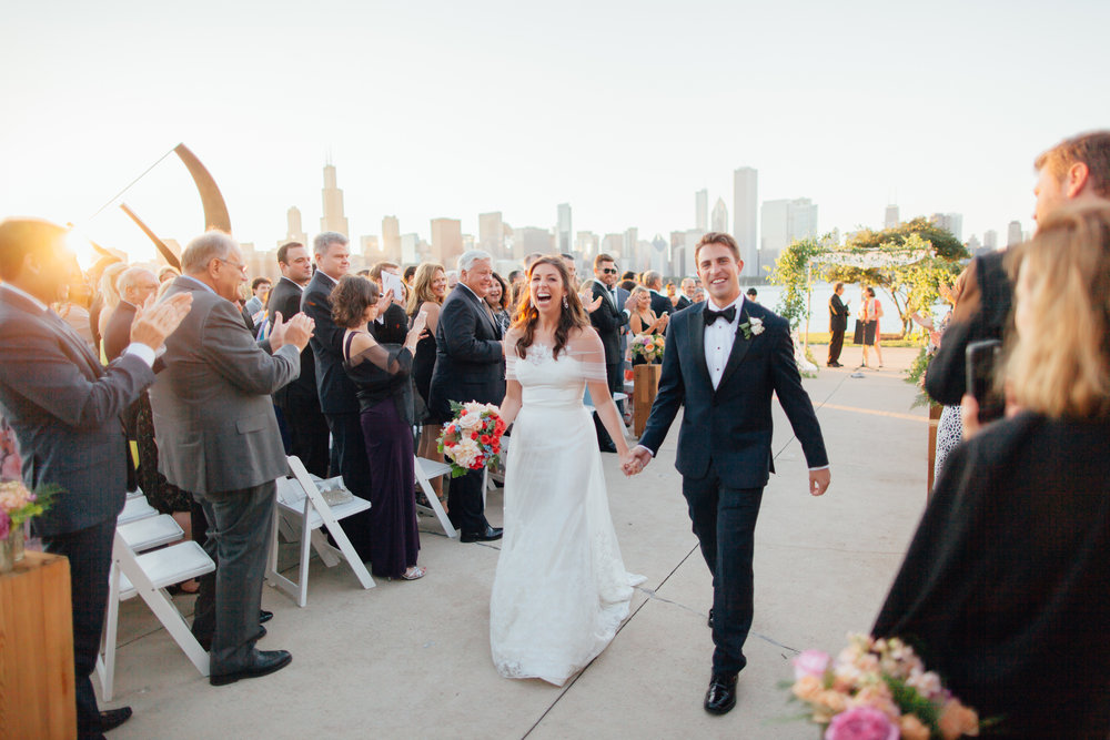 bride and groom, ceremony, adler planetarium, wrap it up parties
