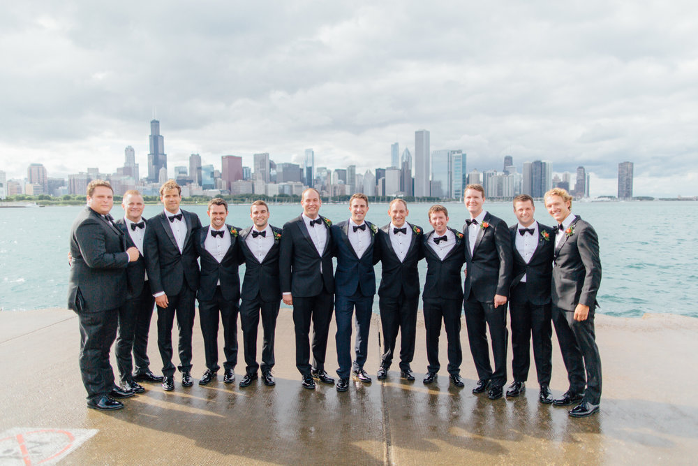 groomsmen, adler planetarium, wrap it up parties