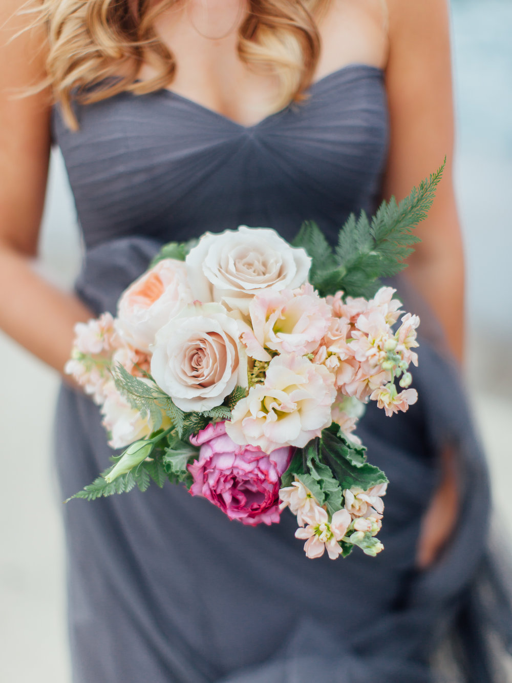 Soft pink wedding bouquet,
