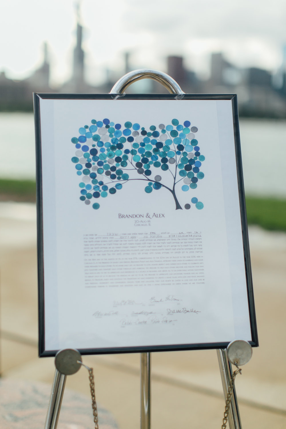 ketubah, jewish wedding, adler planetarium, wrap it up parties