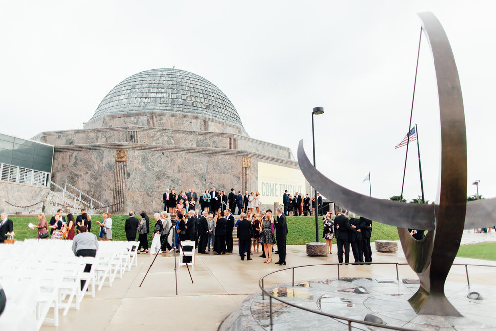 chicago wedding, adler planetarium, wrap it up parties