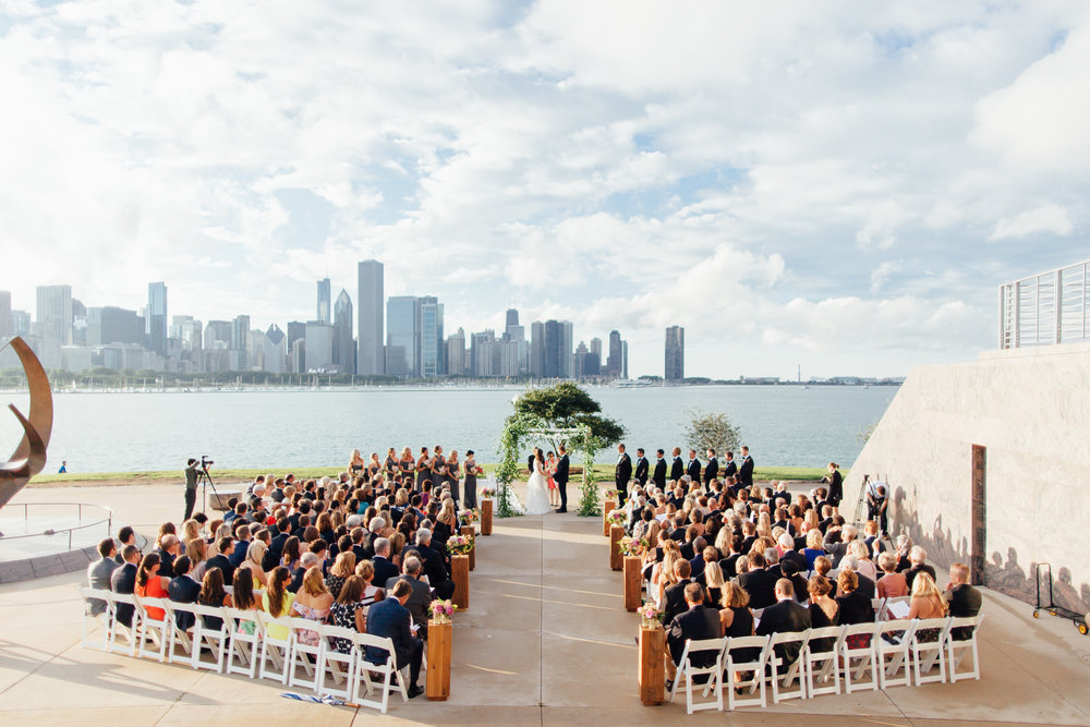 chuppah, jewish wedding, ceremony, adler planetarium, wrap it up parties