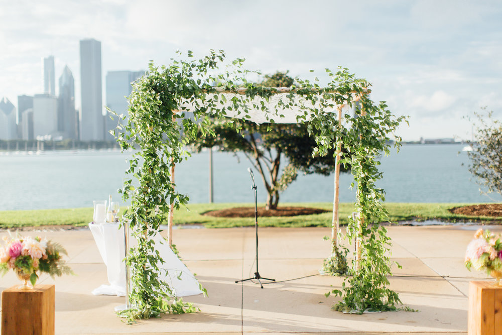 chuppah, jewish wedding, adler planetarium, wrap it up parties