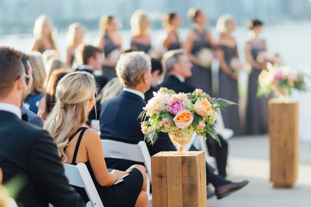 ceremony, jewish wedding, ceremony flowers, adler planetarium, wrap it up parties