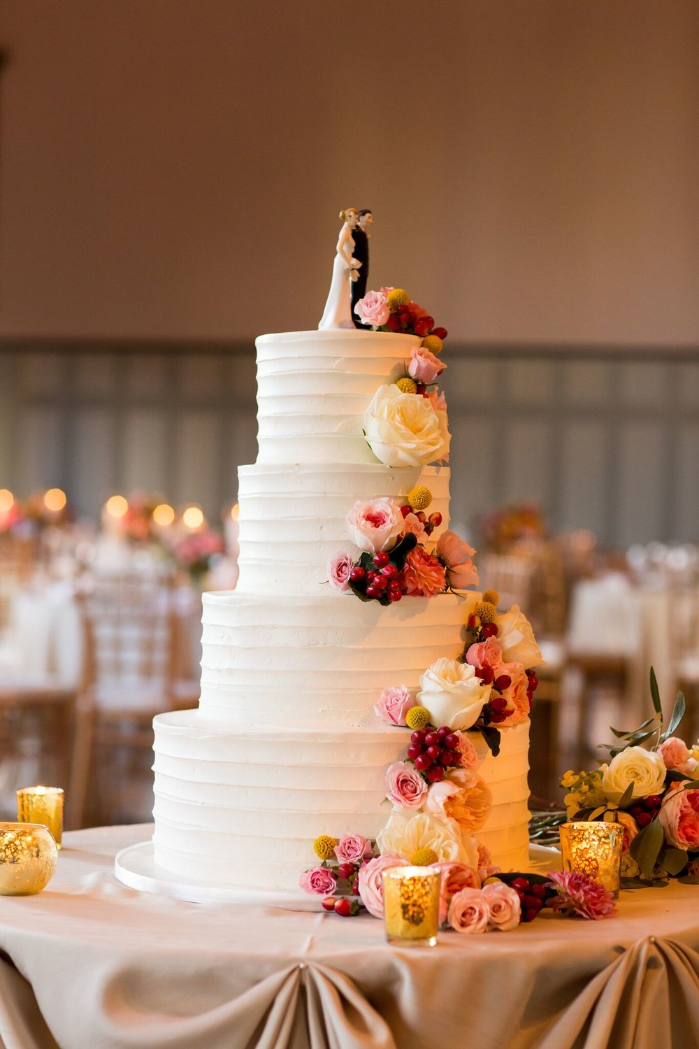 White Buttercream Wedding Cake
