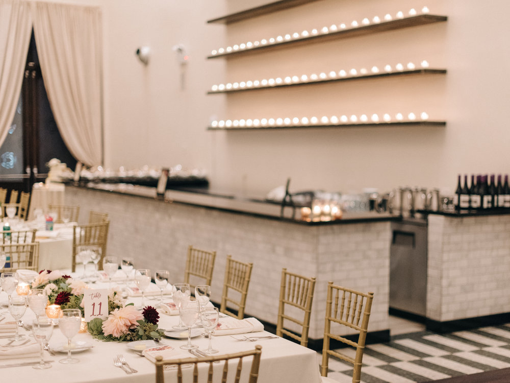 Tablescape and Bar