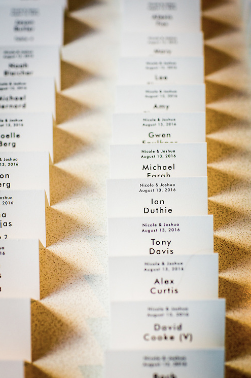 place cards, art institute of Chicago, Wrap It Up Parties