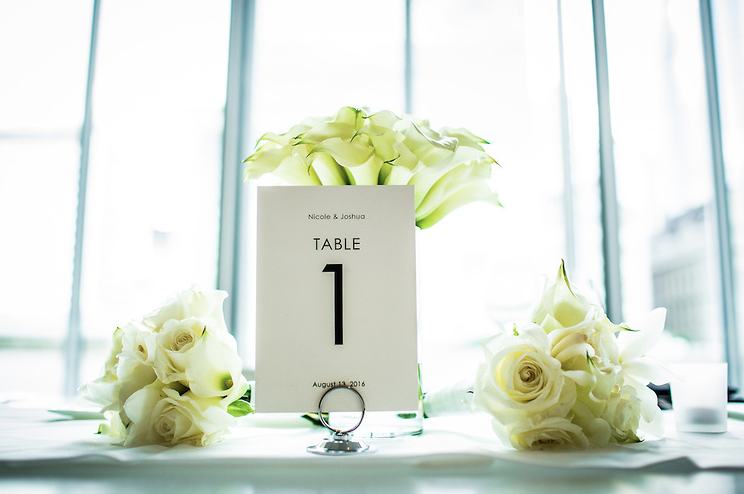 wedding flowers, table numbers, Art Institute of Chicago, Wrap It Up Parties