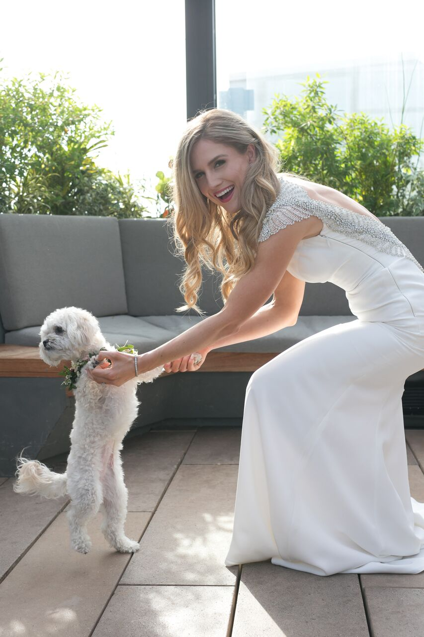Bride and Dog